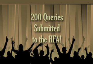 200 Queries Submitted to the HFA! graphic image