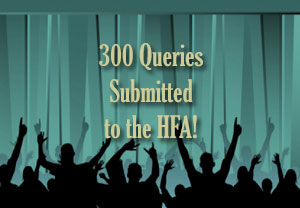300 Queries Submitted to the HFA! graphic image